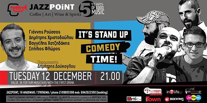 It's Stand up Comedy time στο JAZZPOiNT!